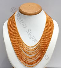 Mandarin Garnet Gemstone Necklace