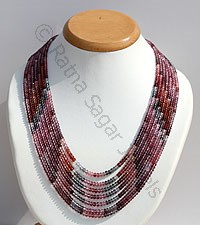 Multi Spinel Faceted Rondelle Necklace