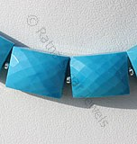 Turquoise Gemstone  Faceted Rectangle