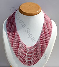 Pink Spinel Faceted Rondelle Necklace