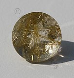 Golden Rutilated Quartz Round Facet