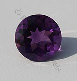 Amethyst Gemstone Round Facet