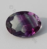 Fluorite Gemstone Oval Facet