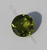 Vesuvianite Gemstone Round Facet