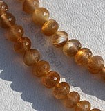 Golden Moonstone Faceted Rondelle