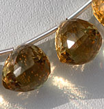 Champagne Citrine faceted chestnut