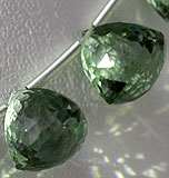 Green Amethyst Gemstone faceted Chestnut
