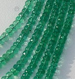 Emerald Gemstone Beads  Faceted Rondelle