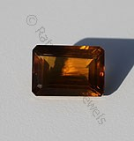 Cognac Quartz Octagon Cut