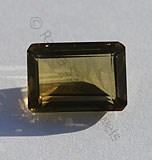 Olive Quartz Octagon Cut