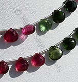 Tourmaline Gemstone Beads  Heart Briolette