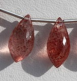 Strawberry Quartz Chandelier Briolette