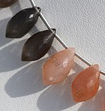 Peach Moonstone Chandelier Briolette