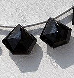 Black Spinel  Polygon Diamond Cut