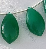 Green Onyx-Dolphin Shape Beads