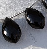Black Spinel Dolphin Shape Beads