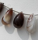 Botswana Agate Gemstone Tear Drops Plain