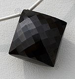Black Spinel  Puffed Diamond Cut
