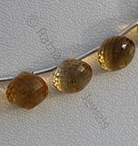 Citrine Gemstone  Onion Shape