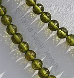 Vesuvianite Gemstone Faceted Round