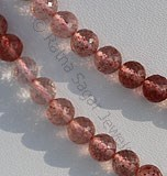 Strawberry Quartz faceted Round
