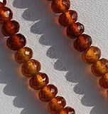 Hessonite Garnet  Faceted Rondelles