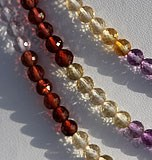 Semi Precious Multi  Faceted Roundels