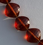 Spessartite Gemstone Cushion Beads