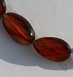 Spessartite Gemstone Twisted Flat Pear