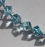 Blue Topaz Gemstone Faceted Cube