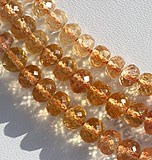 Imperial Topaz  Faceted Rondelles