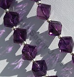 Amethyst Gemstone  Faceted Cube