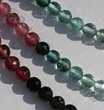 Tourmaline Gemstone Beads  Faceted Rounds