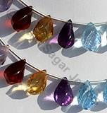 Semi Precious Gemstone Twisted Tear Drop