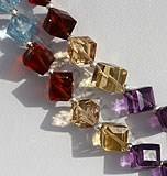 Semi Precious Gemstone Faceted Cube