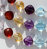 Semi Precious Gemstone Multi Puffed Diamond