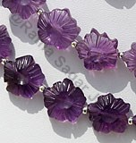 Amethyst Gemstone Flower Beads
