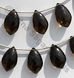 Smoky Quartz Gemstone Dolphin Shape Beads