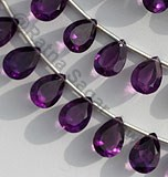Amethyst Gemstone Beads  Pan