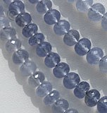 Chalcedony Gemstone Faceted Rondelles