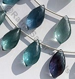 Fluorite Gemstone Dolphin Shape Beads
