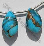 Copper Turquoise Dolphin Briolette
