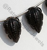 Smoky Quartz Carved Beads