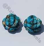 Turquoise Gemstone Half Drilled Gemstones