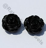 Black Tourmaline Half Drilled Gemstones