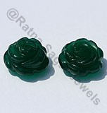 Green Onyx Half Drilled Gemstones