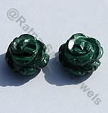 Malachite Half Drilled Gemstones