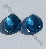 Blue Topaz Half Drilled Gemstones
