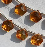 Citrine Gemstone Polygon Diamond Cut