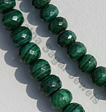 Malachite Faceted Rondelle